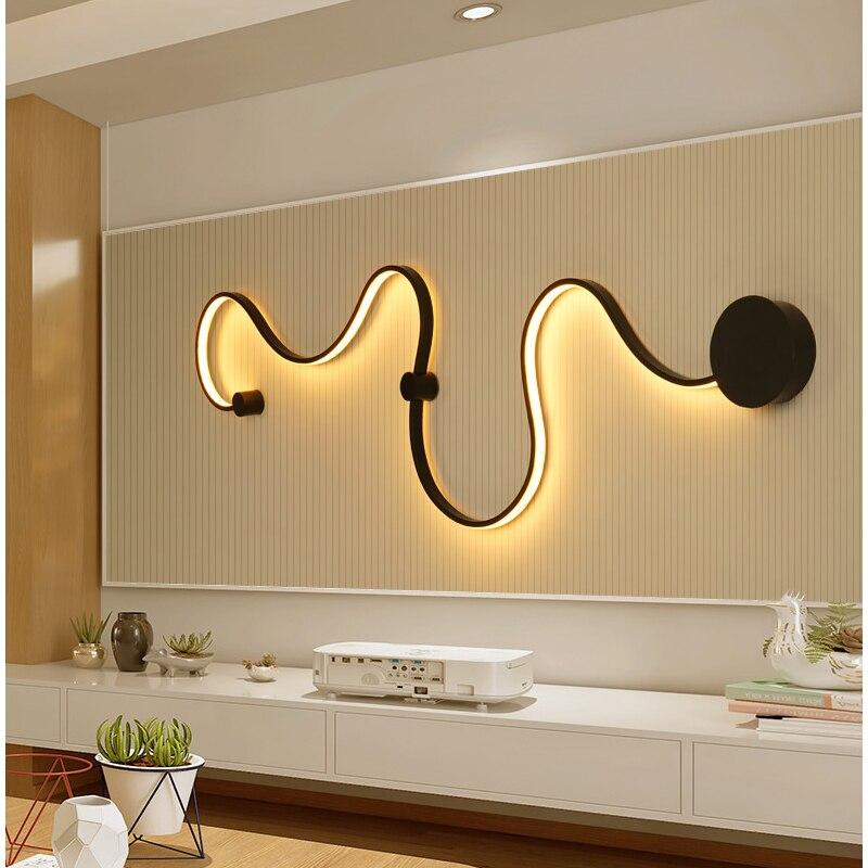 Минималистский современный светодиодный настенный светильник светодиодный бра для дома Спальня гостиной Ванная комната коридор, отель ...