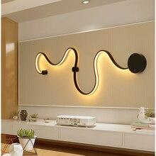 Минималистский современный светодиодный настенный светильник светодиодный бра для дома Спальня гостиной Ванная комната коридор, отель Wandlamp светодиодный люстры
