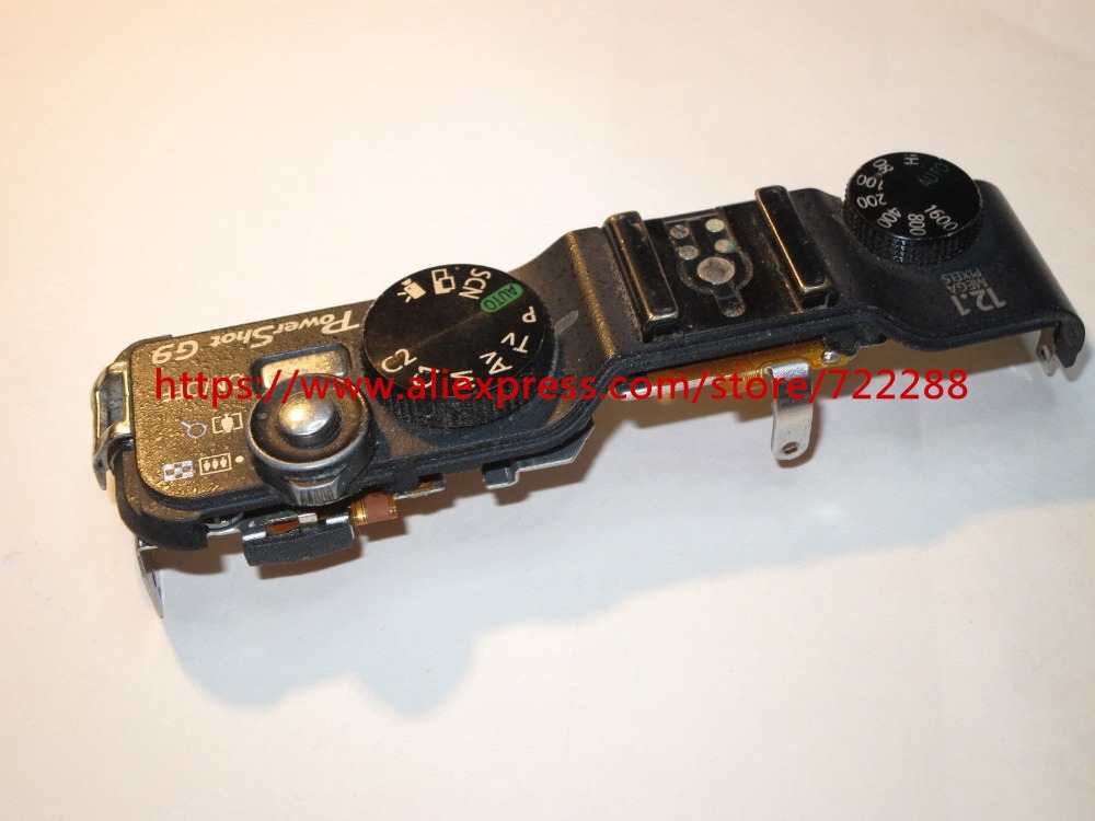 Repair Parts For Canon Powershot G9 Top Cover Ass'y With Shutter Button Power Switch Unit
