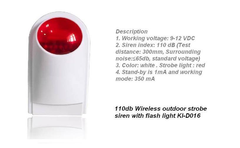 wireless strobe siren ki-D016