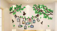 DIY Creative Tree Branches Photo Wall 3D Acrylic Three dimensional Wall Stickers TV Living Room Restaurant Wall Decorations