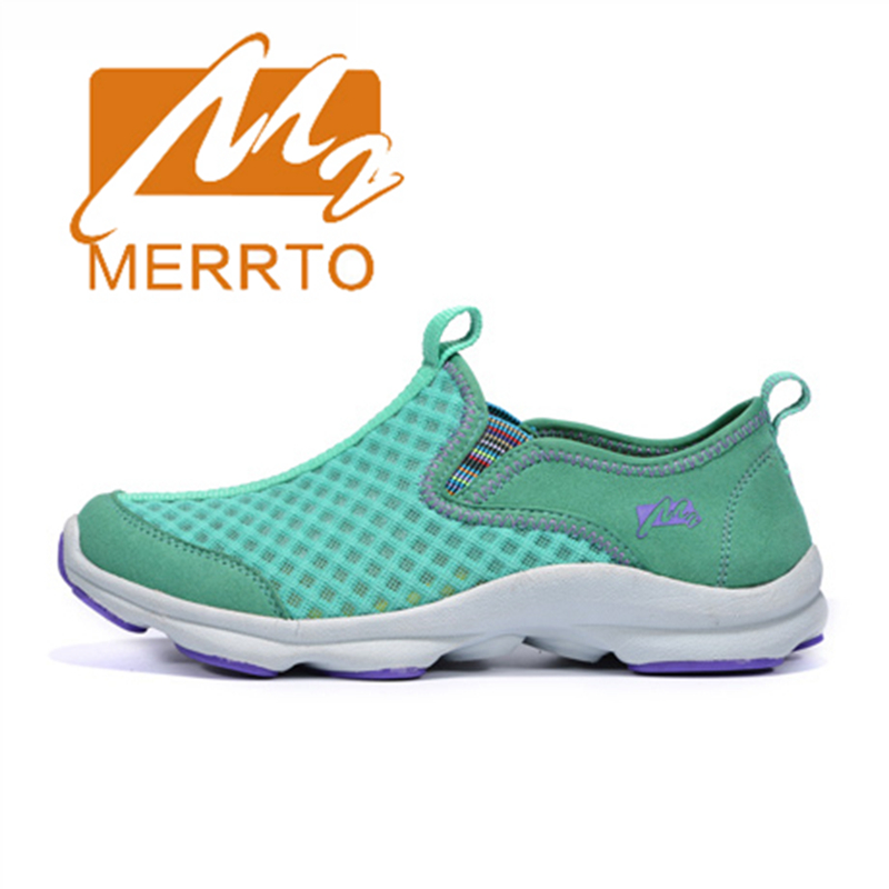 ФОТО 2017 Merrto Women Walking Shoes Lightweight Outdoor Slip On Shoes Mesh For Female Free Shipping MT18533