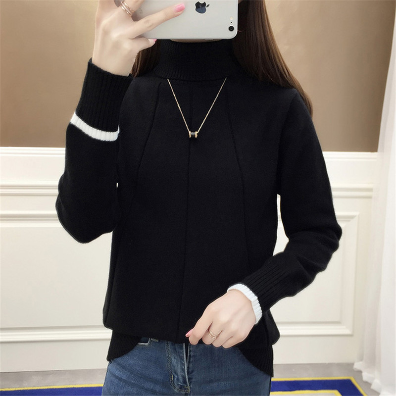 Autumn Winter High Collar Sweater Women Pullover 2018 New Warm Sweater Pullover Fashion Slim Winter Women Turtleneck Sweater 635