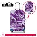 Dispalang новый фиолетовый камуфляж защитная камера охватывает упругие толстые тележка чемодан обложка для 18 20 22 26 28 30 дюймовый