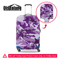 Dispalang new purple camouflage design protective luggage covers elastic thick trolley suitcase cover for 18 20 22 26 28 30 inch