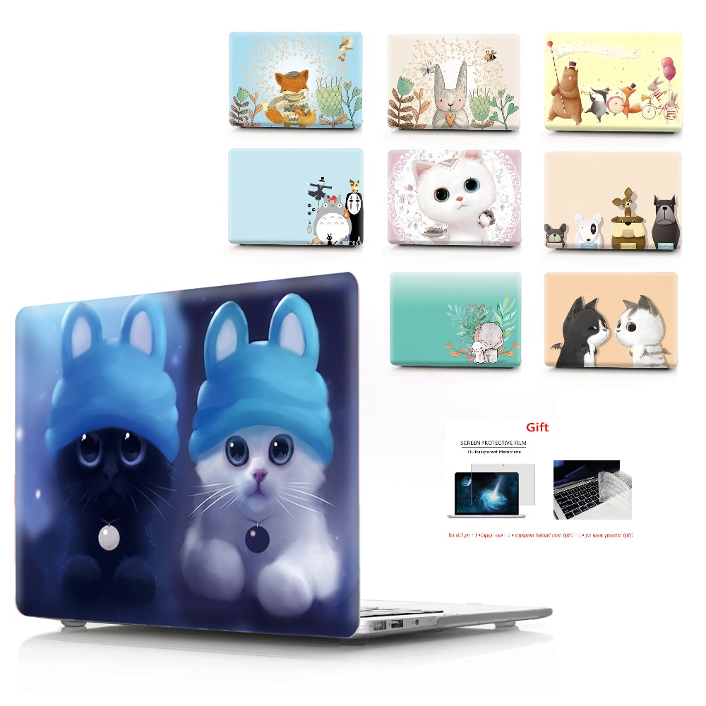 color printing  notebook case for Macbook Air 11 13 Pro Retina 12 13 15 inch Colors With Touch Bar New Air 13 New Pro 13 15-in Laptop Bags & Cases from Computer & Office