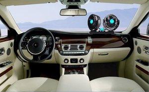 Image 5 - مروحة سيارة صغيرة 12 فولت الهواء تعميم 360 درجة قابل للتعديل للتدوير المزدوج رئيس الصيف مروحة سيارة برودة Usb التوصيل اكسسوارات السيارات