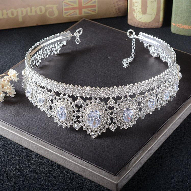 CC Jewelry crown and tiara queen luxury wedding hair accessories for women crowns for beauty hair brides jewellery gift HG771
