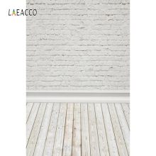 Laeacco кирпичная стена деревянный пол портрет гранж фотозоны фоны для фотографий фоны для фотостудии
