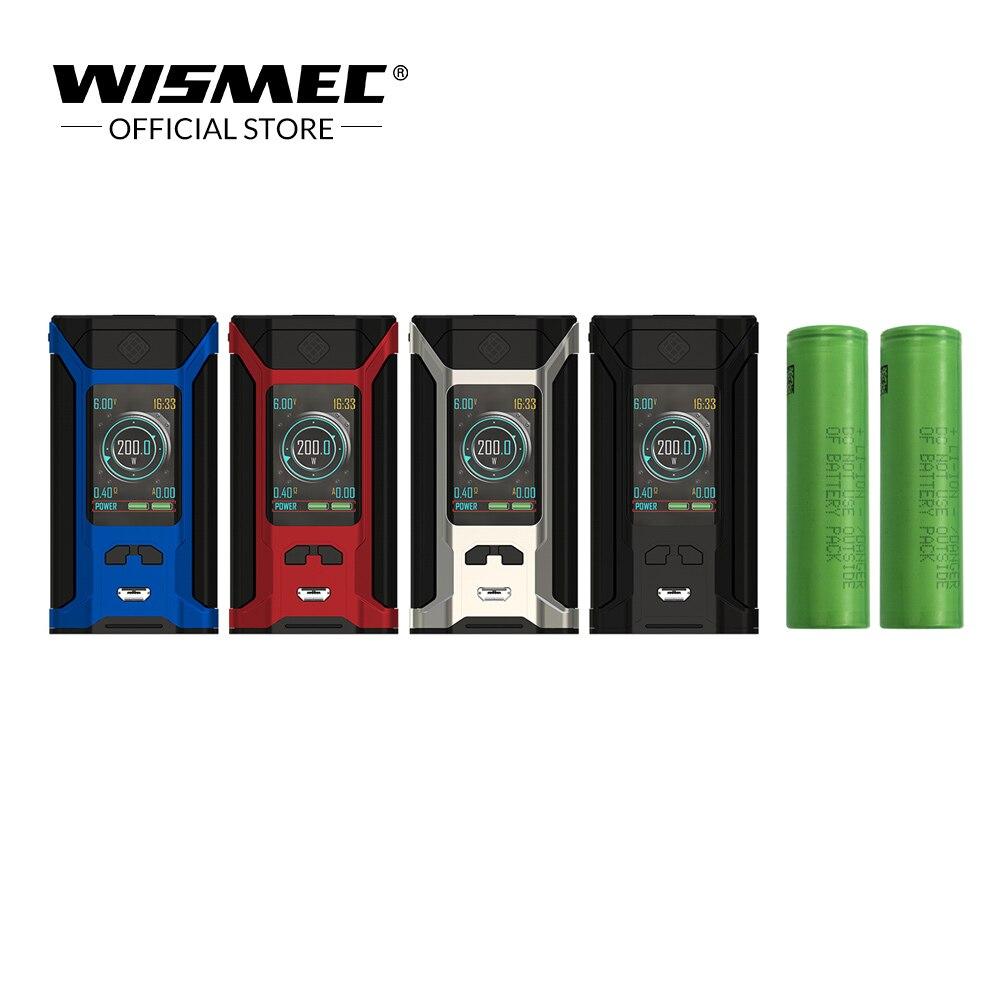 [Original Store] Original Wismec SINUOUS VERWÜSTEN 230 TC Box Mod mit 18650 batterie 200 watt Ausgang Elektronische zigarette vape mod box