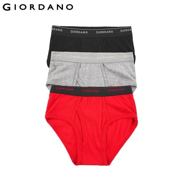 4cb19c7fc Giordano Homens Roupa Interior de Algodão Básico Underwear Masculino Suave  3 pcs Sous Vetement Homme Ropa Hombre Calzoncillos Marcas