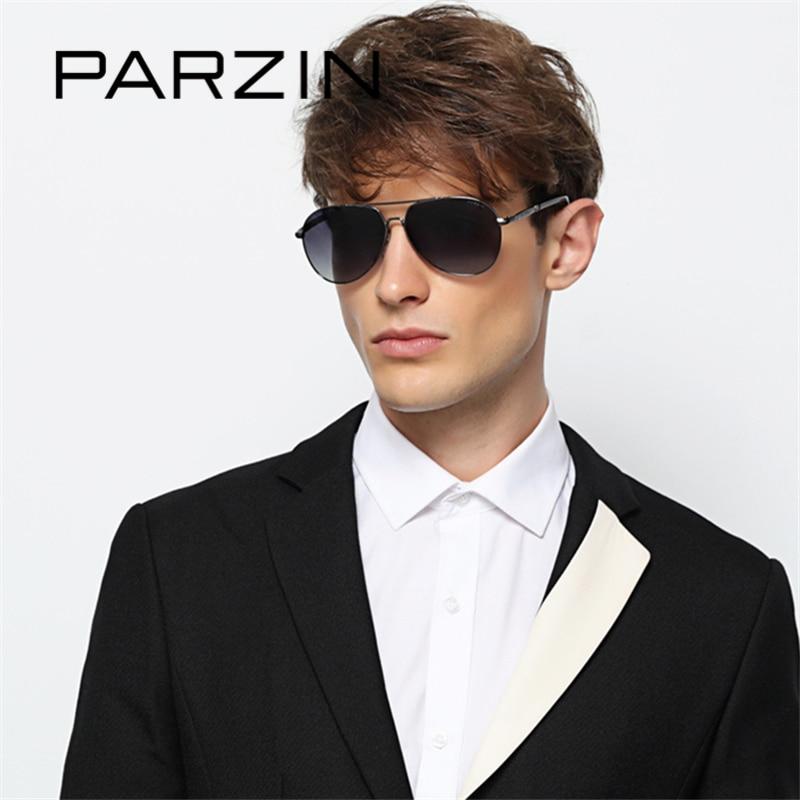 2eb66fb4c PARZIN Cool Pilot Sunglasses For Men Polarizing Glasses For Driving Alloy  Frame Mens Sun Glasses Brand Designer Eyewear 2018