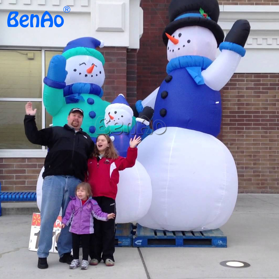 X139 snowman christmas inflatables,inflatable snowmen/massive inflatable snowman family for Christmas decoration for 3 units 2017 hot selling christmas decoration inflatable snowman