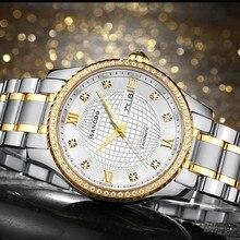 40 мм Sangdo Роскошные часы Автоматическая Self-ветер движение Сапфировое стекло Высокого качества 2016 новая мода мужские часы 00004aaa