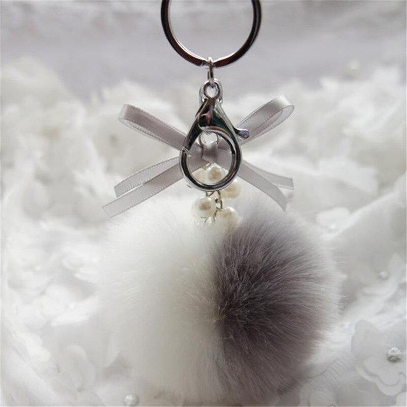 2017 Best Deal Women Bag Accessories Cute Rabbit Fur Ball Ball pendant fashion bags best gift wholesale DropShipping 9color