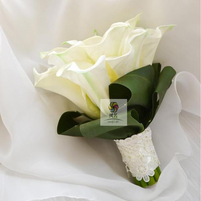 diy european style simple and elegant pastoral garden calla flower