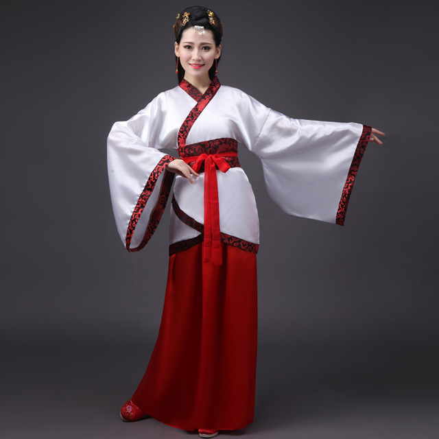 Traditional: Chinese National Ancient Costume Hanfu Girls Traditional