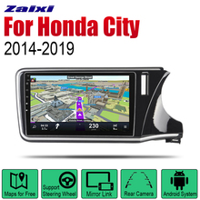 Auto Radio 2 Din Android Car Player For Honda City 2014~2019 GPS Navigation BT Wifi Map Multimedia system Stereo RHD auto player gps navigation for honda city 2014 2019 car android multimedia system screen radio stereo