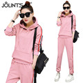 Tracksuit New 2 Piece Set 2017 Plus Size Fashion Casual Hooded Hoodies + Pants Women Suits Long Sleeve Pockets Sporting Sets