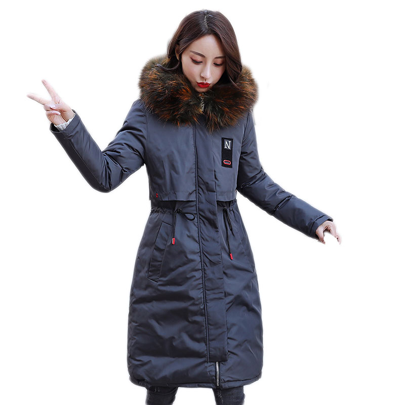 HIGH QUALITY 2018 New Colorful Faux Fur Hooded Cotton-padded Jacket Winter Women Thick Warm Long Women Elegant Two Sides   Parkas