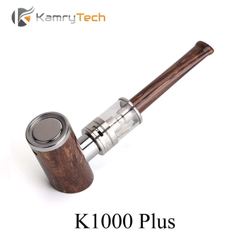 Elektronická cigaretová sada E Potrubí Kamry K1000 Plus Dřevo Potrubí E Vakuové pero Vakuové vodní dýmky s K1000 Atomizer E Cigareta X1034