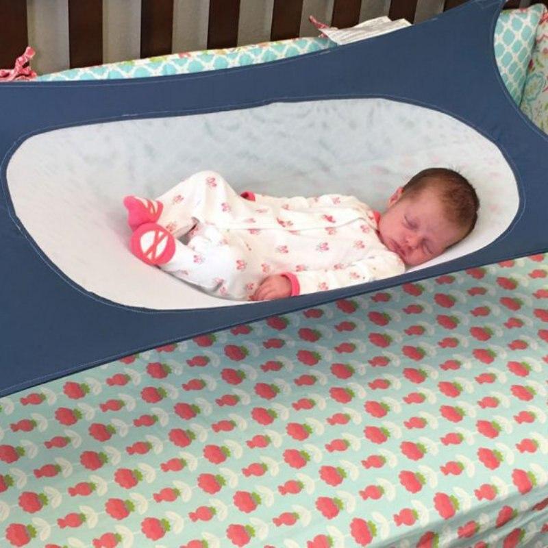 Bambino appena nato Presepi di Sicurezza Amaca Esterno Portatile Appeso Sedile Giardino Altalena Bambino Solido Letto Mobili Per Bambini Staccabile