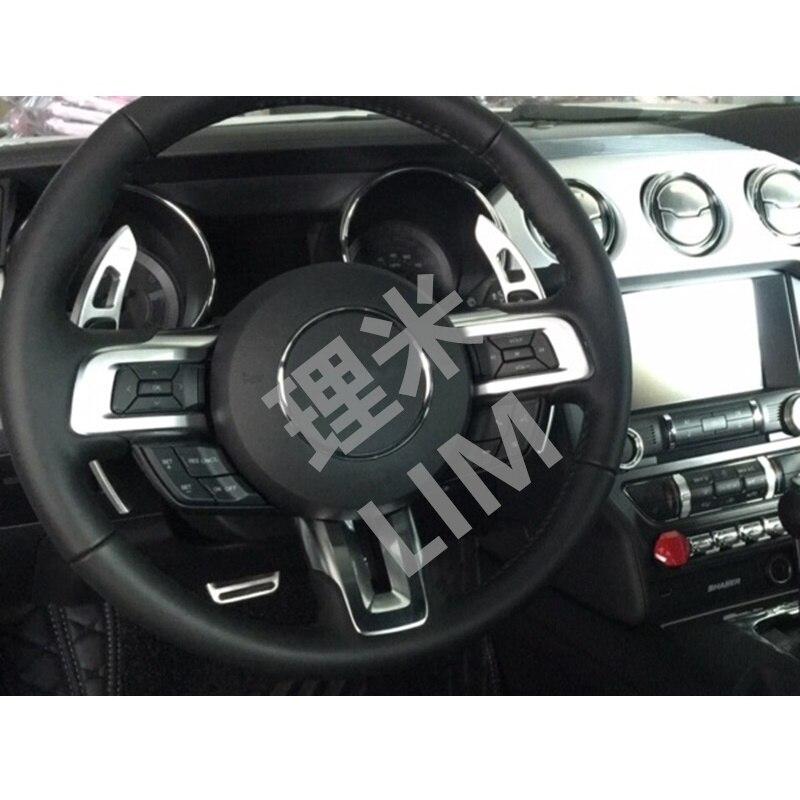 Alüminyum Direksiyon Vites Paddle Ford Mustang 2015 2016 Araba Styling Aksesuarları için Genişletilmiş Kolu Uygun