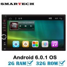 SMARTECH 2 Din Car Multimedia Android 6 2G Ram 32G Rom Universal Para Nissan Toyota GPS de Navegación de Radio Estéreo Reproductor de Audio Wifi