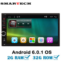 SMARTECH 2 Din Android 6 Car Multimedia 2G Ram 32G Rom Universal For Nissan Toyota GPS