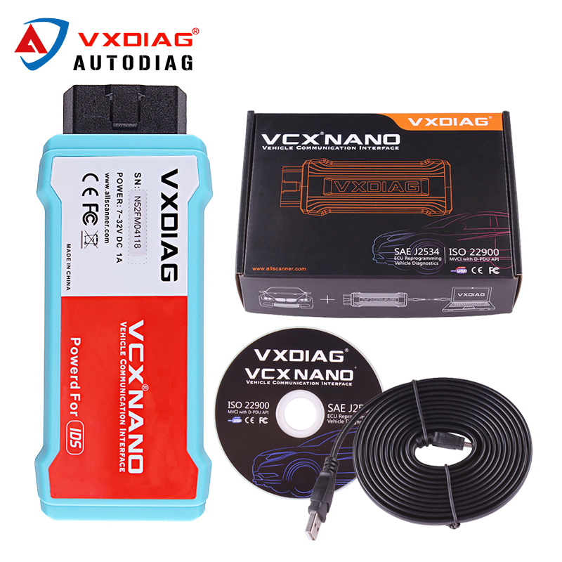 VXDIAG VCX NANO for Ford\Mazda 2 in 1 WIFI USB IDS V100 V98 Car Automotive Diagnostic Tool Auto Reader Scanner better than VCM2