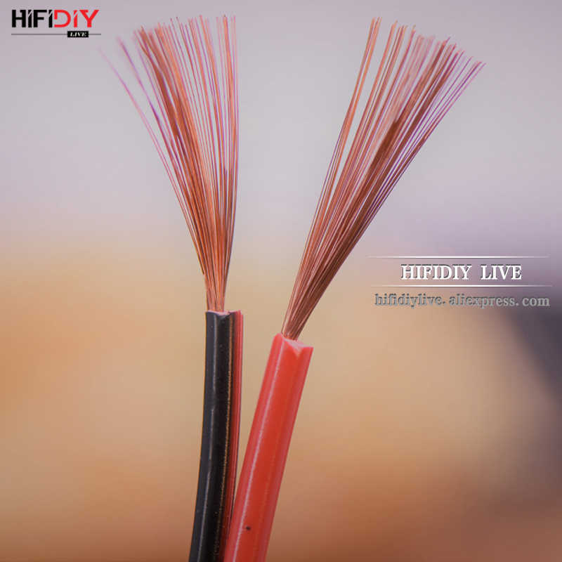 "HIFIDIY לחיות רמקולים רמקול חוט כבל אודיו קו כבל DIY HIFI להשתכלל OFC חמצן טהור-משלוח נחושת 0.75 1.0 1.5 מ""מ Core"