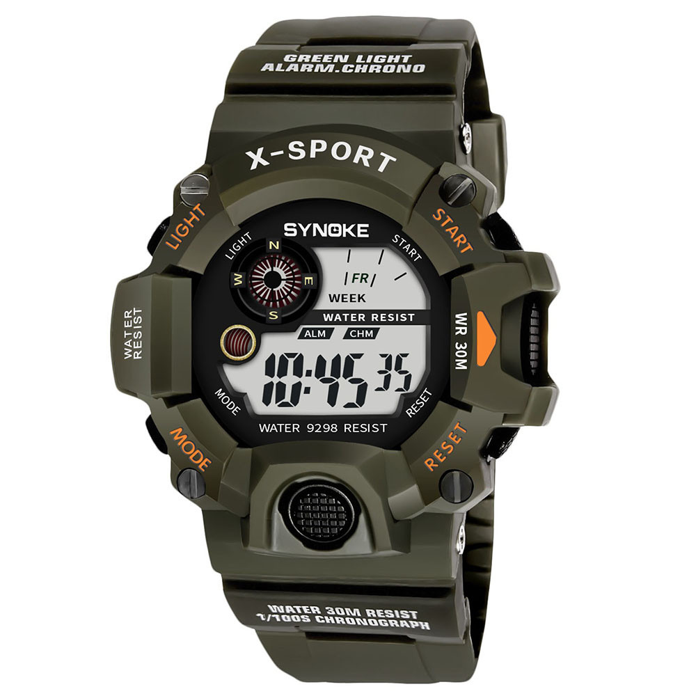 Hot sale Multi Function Military Sports Watch LED Digital Sports Watches Silicone Kids Alarm Date Casual Watch18Feb06
