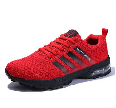 Men sport shoes 2018 sneakers air sole Breathable Mesh outdoor Training Walking Fitness Jogging Footwear sports men running shoe in Running Shoes from Sports Entertainment