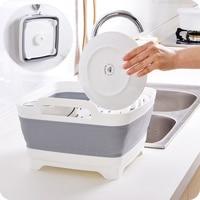 Multifunctional collapsible sink drain basket thick plastic kitchen washing basket fruit storage basket wx8031742