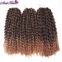 Amir włosy 12 cal 3 sztuk/zestaw Marley oplatania włosy syntetyczne do warkoczy z Ombre fioletowy i blond Malibob szydełkowe przedłużanie włosów