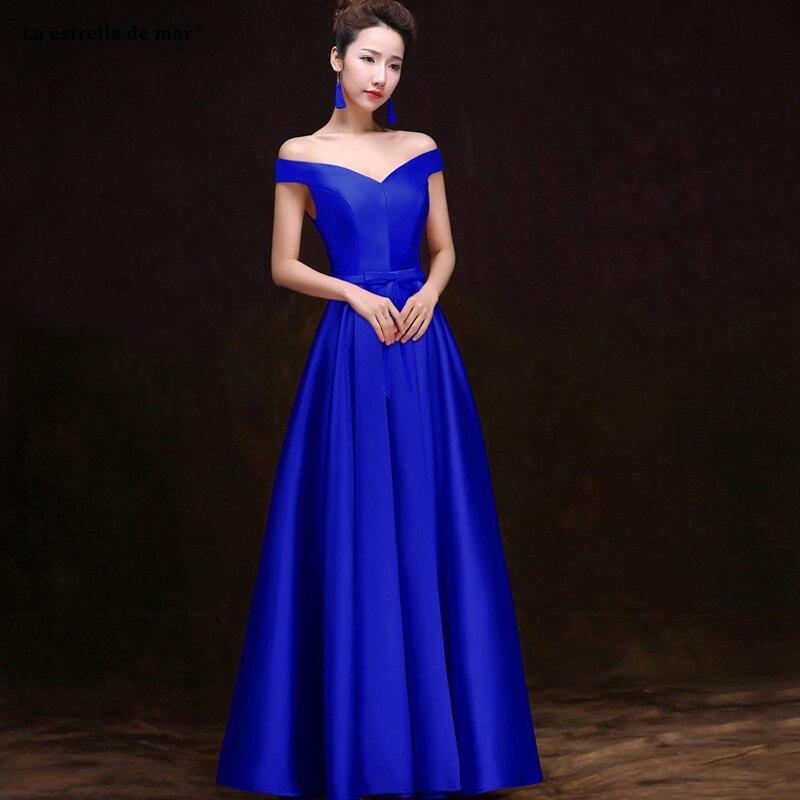 Vestido madrinha hot Boat Neck sleeve A Line royal blue burgundy green purple champagne   bridesmaid     dress   long sukienka wesele