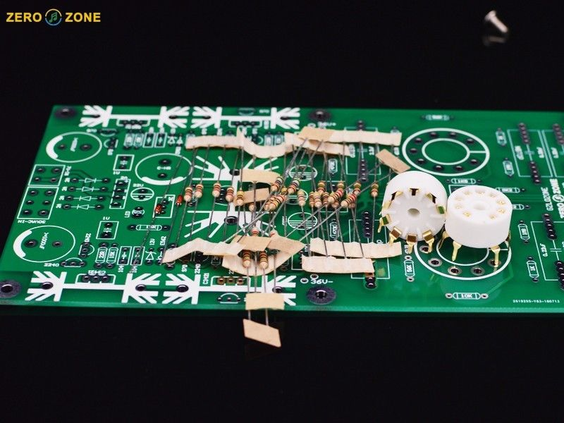 ZEROZONE DIY kit PRT 09A Hi end Tube buffer preamp base on Musical Fidelity X 10D L7 56-in Amplifier from Consumer Electronics    3