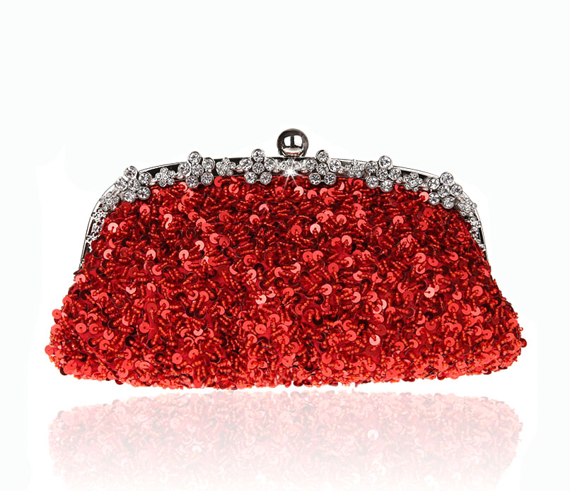 New Design Red Chinese Women's Wedding Evening Bag Clutch handbag Stylish Beaded Sequined Bride Party Purse Makeup Bag 03396-1 ожерелье bride makeup frontlet