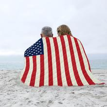 American independence Day flag blanket quilt all season reversible cotton picnic beach travel concert and family