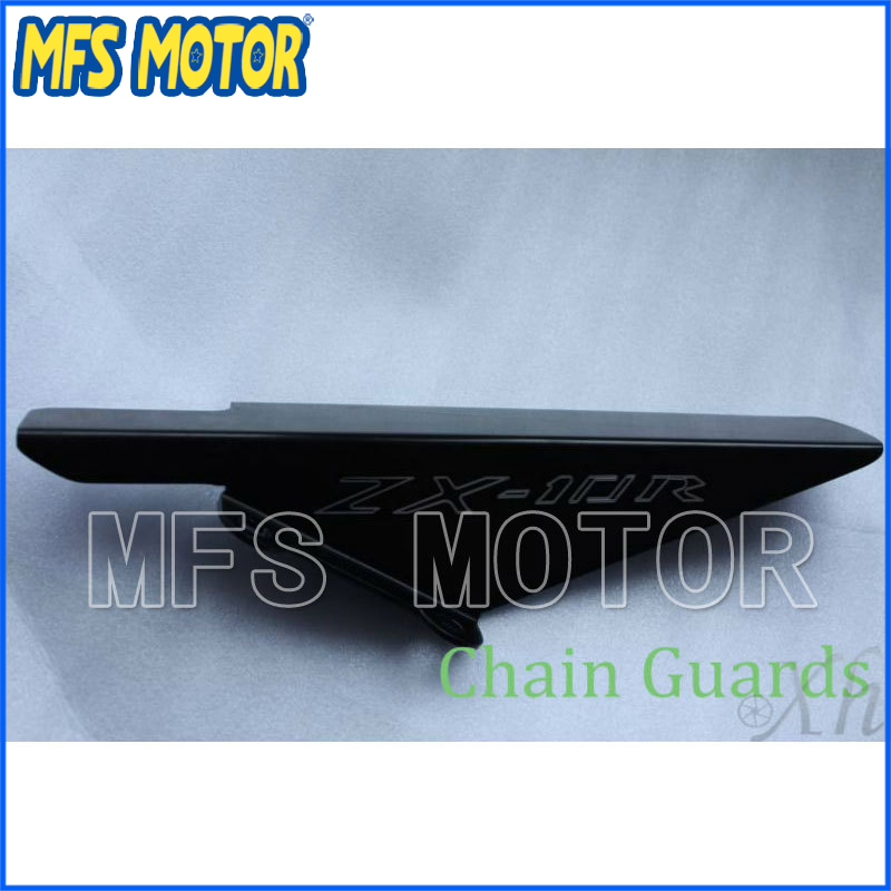 Freeshipping motorcycle parts Aluminum Chain Guards Cover For Kawasaki 2004 2005 ZX10 ZX10R Black