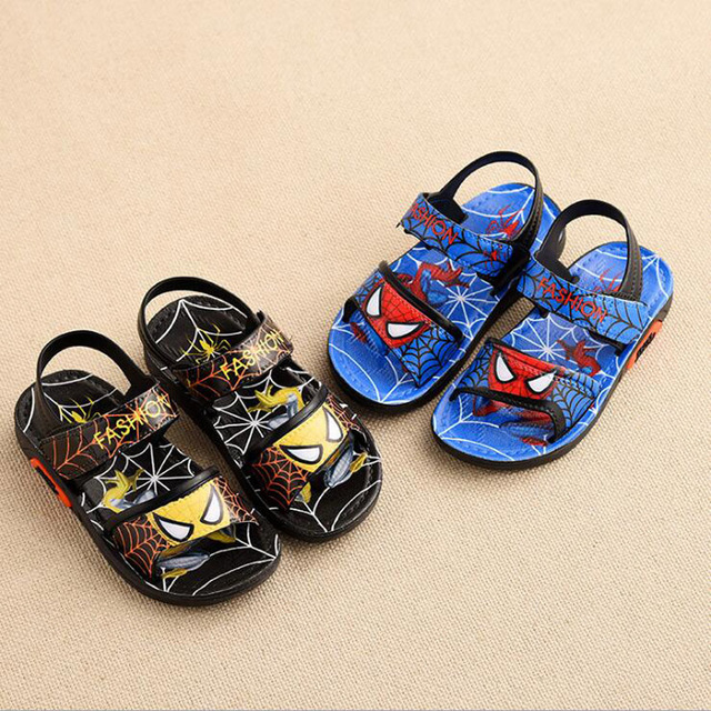 Children Shoes Boys Sandals 2019 New Summer Kids Beach Shoes Cartoon Boys Shoes Spiderman Baby Sandals Toddler Kids Sandals 2