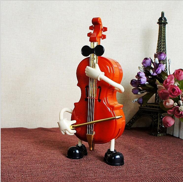 Creative Craft Ornaments Handkurbel Mechanische Spieluhr kann Gitarre - Wohnkultur - Foto 2
