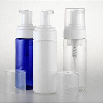 20pcs/Lot 100ml Foaming Bottle Bubble Foam Transparent Blue White Manufacturers Selling Empty Makeup Tools PET Cosmetic Vials