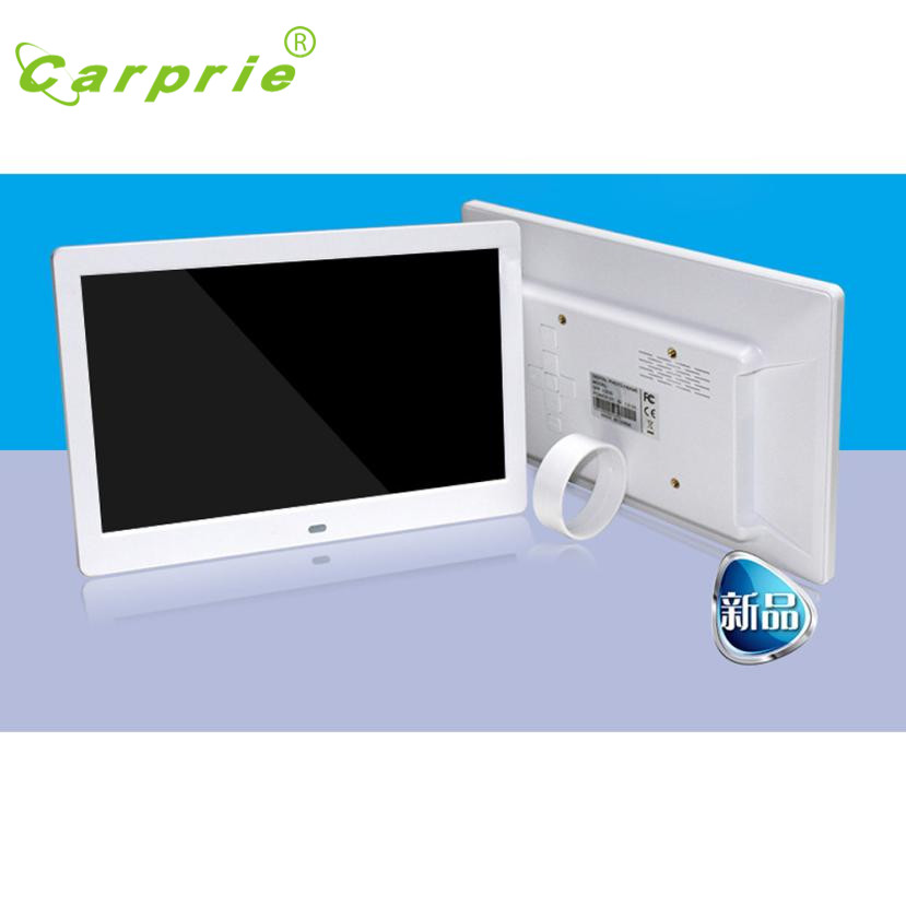 2017 Popular 10inch HD 16:9 Digital Photo Frame Album Picture MP4 Movie Player White Best Gift high quality AU16a zk150tn dv 15 inch 1024x768 4 3 hd metal case open frame