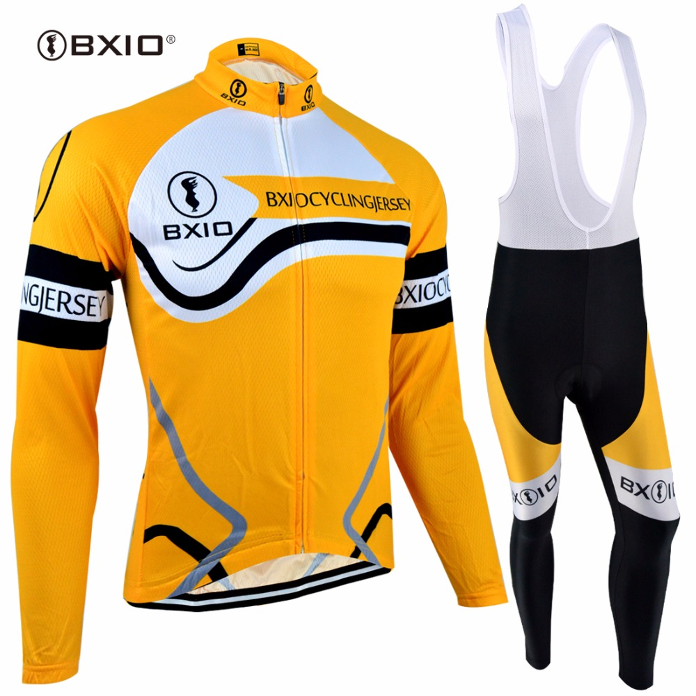 BXIO Winter Thermal Fleece font b Cycling b font Sets Long Sleeve Warm Bike Set Breathable