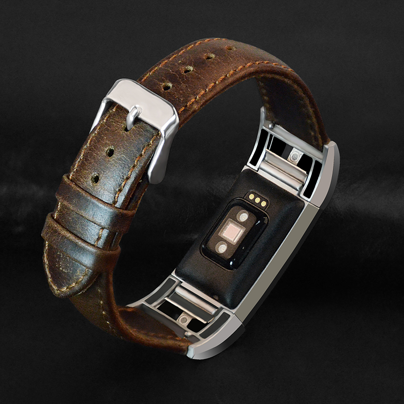 Brown Coffee Genuine Replacement Leather Wrist Strap for Watch Band Soft Bracelet Wristband with Connector Watch Acessory 2016 new genuine leather soft wrist band watch strap for fitbit charge 2 tracker large small bracelet replacement acessory