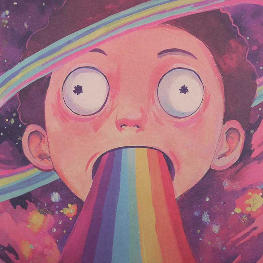 التعادل LER الكلاسيكية ريك و Morty الفن كرافت ورقة المشارك ريترو الكرتون أنيمي لوحات المنزل الزخرفية الجدار ملصق 50.5x35 سنتيمتر