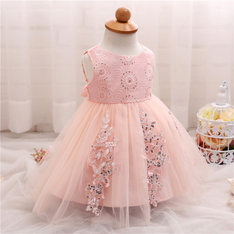 2d561a2ea145 Summer Baby Girl 1 2 Year Birthday Dress Toddler Baptism Clothes ...