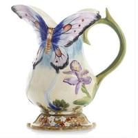 Porcelain vase ornaments Rural European flower butterfly vase simplicity