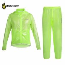 Wolfbike Cycling Rain Coat  Jersey Waterproof Bicycle Jackets Running MTB Windbreaker Rainproof Lightweight Kits Clothing